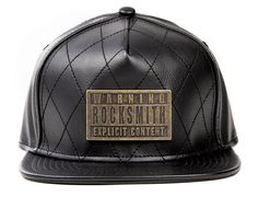 Black Explicit Quilted Leather Strapback Cap by ROCKSMITH Best Caps, 5 Panel Hat, Strapback Cap, Quilted Leather, Snapback, Baseball Hats, Content, Mens Fashion, My Style