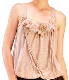 Floral and necklace accent tunic tank. $36.50