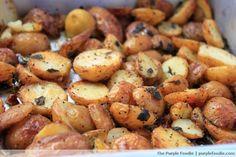 Crujientes patatas asadas con limón