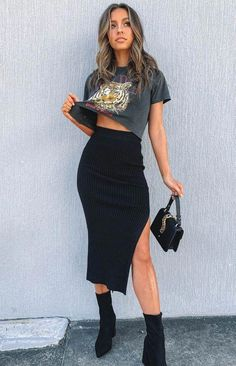 Boho Outfits, Cute Casual Outfits, Spring Outfits, Black Summer Outfits, Black On Black Outfits, Heels Outfits, Trendy Black Outfits, All Black Outfits For Women, Edgy Fall Outfits
