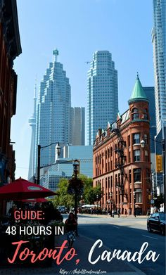 A local's guide to Toronto for first-time visitors! Here's how you can see Toronto's top attractions the most efficiently and some delicious gluten-free and vegan eats along the way! 48 hours in Toronto 2 days in Toronto Toronto city guide T Toronto City, Toronto Travel, Toronto Bars, Toronto Vacation, Hotels In Toronto Canada, Toronto Tourism, Best Restaurants In Toronto, Visit Toronto, Vancouver Travel
