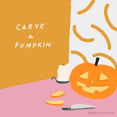 Add carve a pumpkin to your fall bucket list.