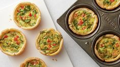 These quiche may be little, but they pack a serious amount of veggie-loaded flavor! Brunch Recipes, Gourmet Recipes, Breakfast Recipes, Brunch Ideas, Easter Recipes, Kraft Recipes, Egg Recipes, Cookie Recipes, Chicken Recipes