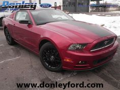 2014 Ford Mustang V6. Ruby Red Metallic BEAUTIFUL #AmericanMuscle Coupe!