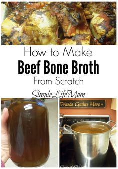 How to Make Beef Bone Broth Real Food Recipes, Soup Recipes, Healthy Recipes, Yummy Recipes, Diet Recipes, Clean Eating, Healthy Eating, Healthy Food, Recipes