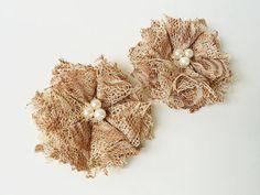 Fabric Flower Hair Clips Bridesmaid Hair????