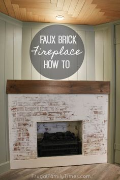 May 2020 - This fireplace looks so real - yet it was so simple to build! Here's how to build a faux fireplace in a corner (with German schmear brick). Also we built a faux reclaimed wood mantle. A corner fireplace can look great and here's how. Fireplace Frame, Fake Fireplace, Fireplace Inserts, Fireplace Surrounds, White Washed Fireplace, Corner Fireplaces, Fireplace Mantles, Fireplace Ideas, Faux Brick Panels