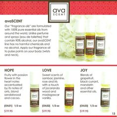 avaSCENT Pure essential oil roll-on blends: Love, Joy, Hope - long lasting fragrance-free scents. No chemicals. No alcohol. Just delicious, natural, pure essential oils. Shop now at www.avaandersonnontoxic.com/avabyjessica