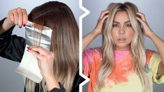 Hi guys here is my most highly requested balayage hair process. I go over my exact hair formula and show step by step how I achieve my blonde level and tone. Grown Out Blonde Hair, Blonde Hair At Home, Blonde Hair Looks, Ombre Hair At Home, Diy Ombre Hair, Balayage Hair Tutorial, Balayage Technique, Hair Cutting Techniques, Hair Color Techniques