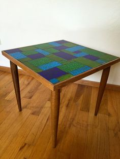 Rare Georges Briard Mosaic Glass Side Table by VintageParamour
