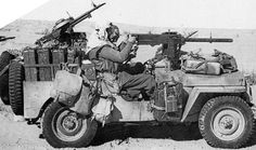 Heavily armed and specially modified jeep of British L Detachment SAS, North Africa, early 1943, photo 3 of 5