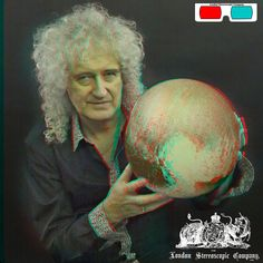 Brian May And Pluto - 3D Anaglyph Photography.