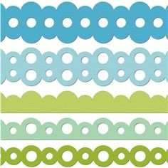 Silhouette Design Store - View Design #9359: 'scallop circle' border set
