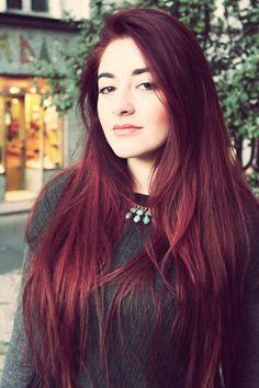 couleur cheveux violet rouge - Coloration Cheveux Framboise