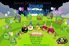 Angry Birds Birthday Party Invitation by SweetDigitalCreation