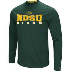 Colosseum Women's North Dakota State Bison Green Streamer Long Sleeve T-Shirt, Size: Large, Team