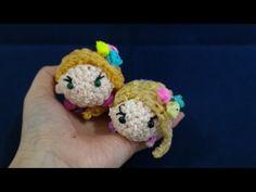 かぎ編で編む(only hook)ツムツム(TSUM TSUM)ラプンツェル(Rapunzel)レインボールーム(Rainbow loom) - YouTube