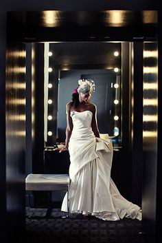 Real Wedding Album: Ashely & Damir #wedding #groom #white