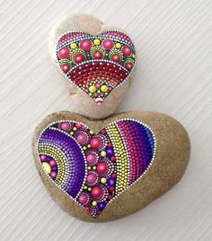 Your place to buy and sell all things handmade Dot Art Painting, Mandala Painting, Pebble Painting, Pebble Art, Mandala Art, Stone Painting, Stone Crafts, Rock Crafts, Hand Painted Rocks