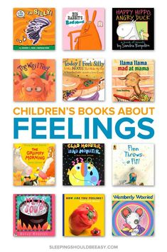 Feelings can be overwhelming for kids, especially when they don't yet know what they are. Help your child with these 23 children's books about feelings, from sad to angry to happy. Best Children Books, Toddler Books, Baby Books, Kids Story Books, Future Children, Feel Good Books, Emotional Awareness, Preschool Books, Preschool Themes