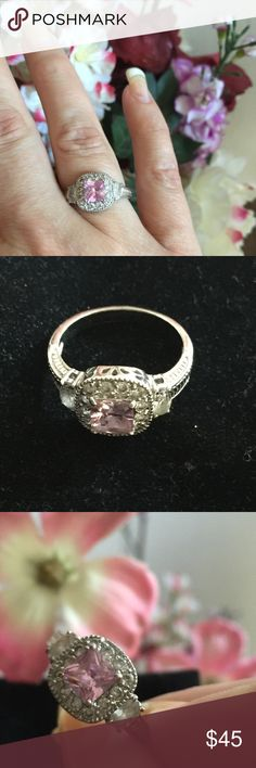 Beautiful Pink & White Sapphire Ring Absolutely Stunning Piece And Pictures Don't Do Any Justice For This Ring!! Pink And White Lab Created Silver Sapphire Ring. Size 9 - Quality Jewelry (No Tag On Item) WILLING TO CONSIDER ANY REASONABLE OFFERS THROUGH THE OFFER BUTTON Boutique Jewelry Rings