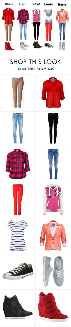 """""""If One Direction were girls"""" by skinnykenzie ❤ liked on Polyvore featuring Hudson Jeans, Dondup, Ted Baker, Vero Moda, 7 For All Mankind, AG Adriano Goldschmied, Velvet, Ash, ALDO and adidas Originals"""