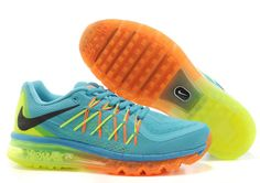 Nike Air Max 2015 Australia Mens Running Shoes Jade Orange Fluorescence Green Outlet Shop