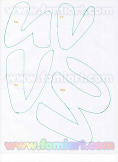31- Abecedario Gratuito Estilo Fomiart con Maestra con Manzana | Moldes Gratuitos 3d Letters, Letters And Numbers, Craft Letters, Alphabet, Felt Name, Letter A Crafts, Lettering Styles, Letter Templates, Cool Fonts