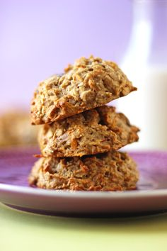 Make busy mornings a breeze with a batch of these chewy Gluten Free Breakfast cookies. They're filled with veggies, nuts and fruit, and are sure to keep you going all morning long.