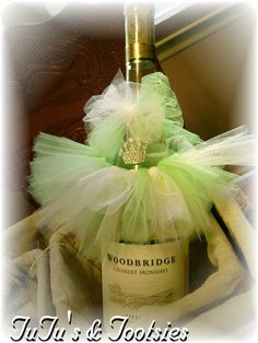 Wine bottle tutu dress up favors for Baby Showers, Bridal Showers, Weddings, Events