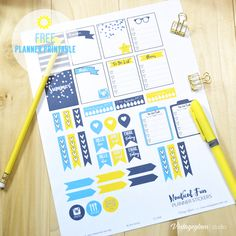 Summer Planner Stickers - Free Printable Download