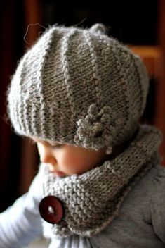 PDF Knitting Pattern - Hat and Cowl COOL WOOL (Toddler, Child, Adult sizes) - English, French, Russian : Pattern knit beret and collar Cool Wool Sizes: by KatyTricot Knitting For Kids, Knitting Projects, Baby Knitting, Crochet Baby, Crochet Projects, Knit Crochet, Knitting Wool, Free Knitting, Knitting Patterns