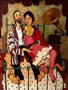Грузинский художник Отар Имерлишвили (Otar Imerlishvili) - oll_vill