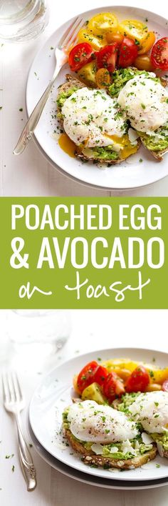 Simple Poached Egg and Avocado Toast - this creamy, filling, real food breakfast takes less than 10 minutes to prep!<br> This Simple Poached Egg and Avocado Toast recipe is so simple and so delicious! Real, healthy food never tasted so good. Healthy Breakfast Recipes, Brunch Recipes, Healthy Recipes, Healthy Food, Easy Avocado Recipes, Avocado Ideas, Healthy Brunch, Simple Recipes, Healthy Tips