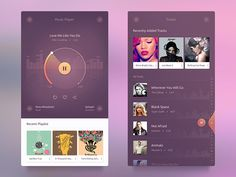UI challenge #003  Music Player UI Free by Kazi Mohammed Erfan