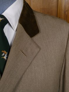 Detail from: Vintage Savile Row Bespoke Stone Venetian Twill Covert Coat. www.savvyrow.co.uk
