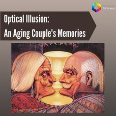 "Optical Illusion: ""Forever Always"" by Octavio Ocampo. An old couple is reminiscing on the good memories they had when they were young. Can you see both the old couple & their younger selves? Train your brain to see things smarter with Fit Brains games: http://taps.io/fitbrains"