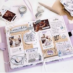 The finished look from yesterdays post on my process for putting this spread together using my new shine Bright printable kit. Bullet Journal Notebook, Bullet Journal School, Bullet Journal Ideas Pages, Bullet Journal Inspiration, Bullet Journal Paper, Bullet Journal Spread, Journal Pages, Bullet Journal Aesthetic, Scrapbook Journal