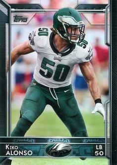 0b0314eb4 2015 Topps  61 Kiko Alonso Front Philadelphia Eagles