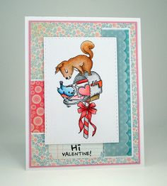 I've got another one of those crazy Art Impressions  squirrels from the brand new Nuts About You  clear stamp set for you today. ...
