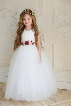 Ivory Flower Girl Dresses, Little Girl Dresses, Girls Dresses, Dress Girl, Party Dresses, Princess Flower Girl Dresses, Girl Tutu, Pageant Dresses, Lace Flower Girls