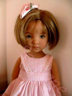 love this doll's facial expression-little darling from dianna effner mold painted by joyce matthews