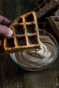 Get this tested recipe for light and crispy, lightly sweet chocolate gluten free waffles. Fire up your waffle iron!