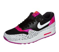 Nike Sportswear AIR MAX 1 Baskets basses black/white/fireberry pink pow prix Baskets Femme Zalando 140.00 €