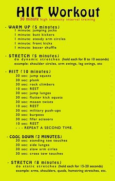 30 Minutes of HIIT! Get moving!
