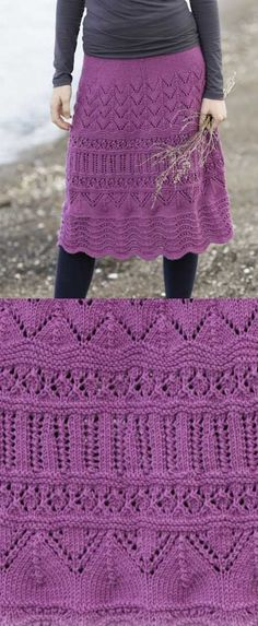 Free Knitting Pattern for Madison a Lace Skirt.