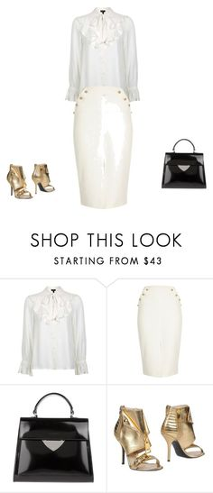 """""""Untitled #12612"""" by explorer-14576312872 ❤ liked on Polyvore featuring Topshop, River Island, Coccinelle and Moschino"""