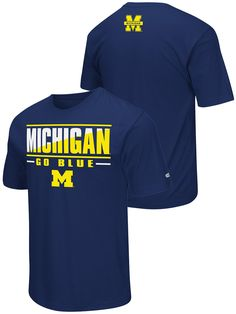Michigan Wolverines Colosseum Navy Lightweight Breathable Active Workout T-Shirt