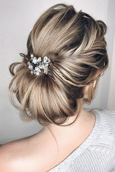 elstile #wedding hairstyles braided texture low bun elstilespb via instagram
