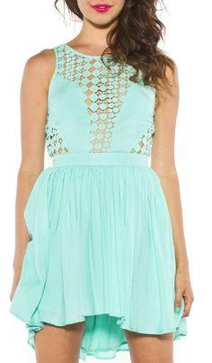 Mint Lace Dot Dress, maybe in black, dark grey, or hunter green?